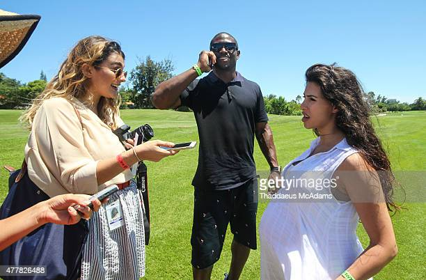 Regie Bush and Lilit Avagyan attend JEEP 11th Annual Celebrity Golf Tournament during The 11th Annual Irie Weekend on June 19 2015 in Miami Beach...