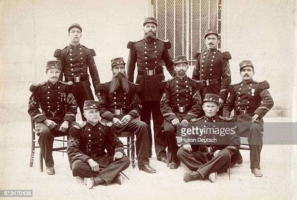 A regiment of the French Foreign Legion poses for a portrait