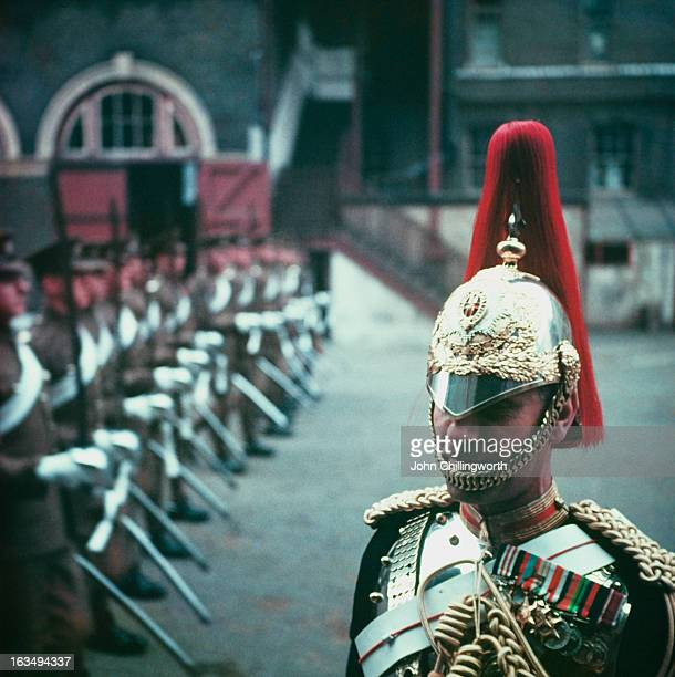 Regimental CorporalMajor Charles Maxted of the Royal Horse Guards at Hyde Park Barracks Knightsbridge London May 1953 Maxted is to carry the Queen's...