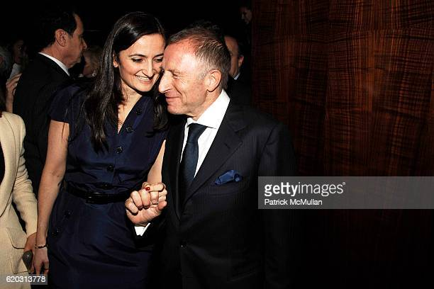 Regina Abramovich Feuer and Laurence Graff attend GRAFF Flagship Salon Opening hosted by LAURENCE GRAFF at Graff Flagship Salon on November 13 2008...