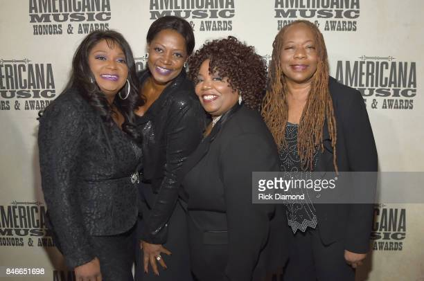 Regina Alfreda Ann and Deborah McCrary of The McCrary Sisters attend the 2017 Americana Music Association Honors Awards on September 13 2017 in...