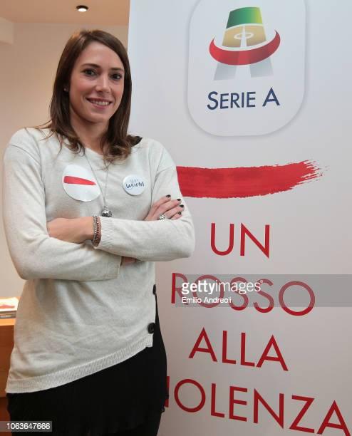 Regina Baresi of FC Internazionale attends the Lega Serie A 'Un Rosso Alla Violenza' press conference on November 20 2018 in Milan Italy