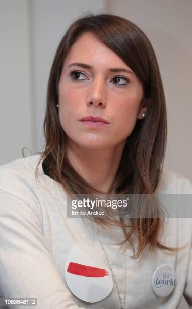 Regina Baresi of FC Internazionale looks on during the Lega Serie A 'Un Rosso Alla Violenza' press conference on November 20 2018 in Milan Italy