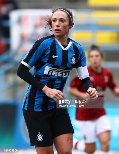 Regina Baresi of FC Internazionale looks on during the Women Coppa Italia match between FC Internazionale v AC Milan on December 11 2019 in Solbiate...