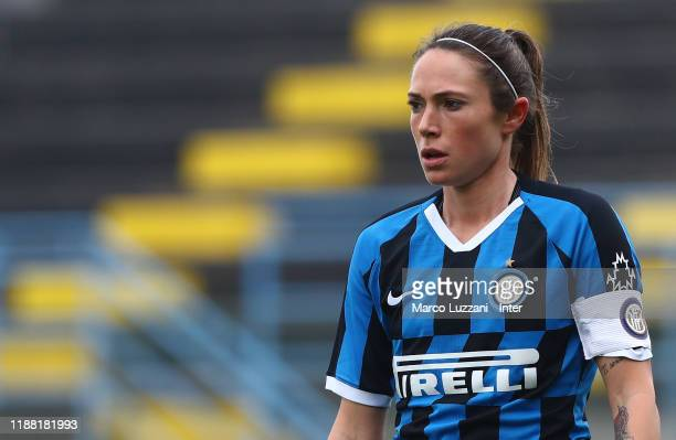 Regina Baresi of FC Internazionale looks on during the Women Serie A match between FC Internazionale and Orobica at Campo Sportivo F Chinetti on...