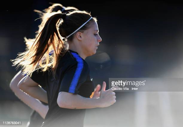 Regina Baresi of FC Internazionale Women in action during a training session at Suning Youth Development Centre in memory of Giacinto Facchetti on...