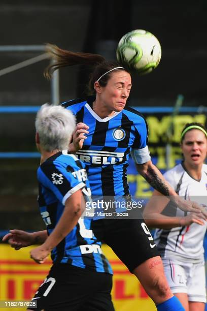 Regina Baresi of FC Internazionale Women in action during the Women Serie A match between FC Internazionale and Orobica at Campo Sportivo F Chinetti...