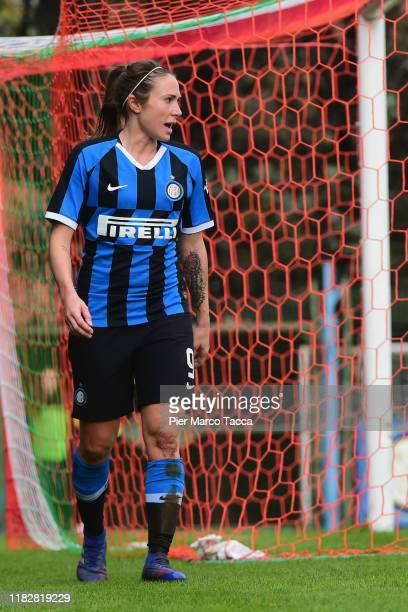 Regina Baresi of FC Internazionale Women leaves the pitch during the Women Serie A match between FC Internazionale and Orobica at Campo Sportivo F...