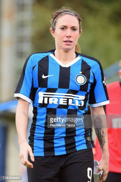 Regina Baresi of FC Internazionale Women looks during the Women Serie A match between FC Internazionale and Orobica at Campo Sportivo F Chinetti on...