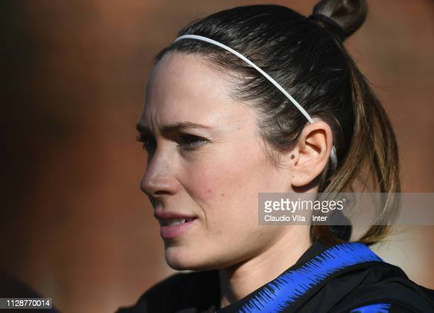 Regina Baresi of FC Internazionale Women looks on during a training session at Suning Youth Development Centre in memory of Giacinto Facchetti on...