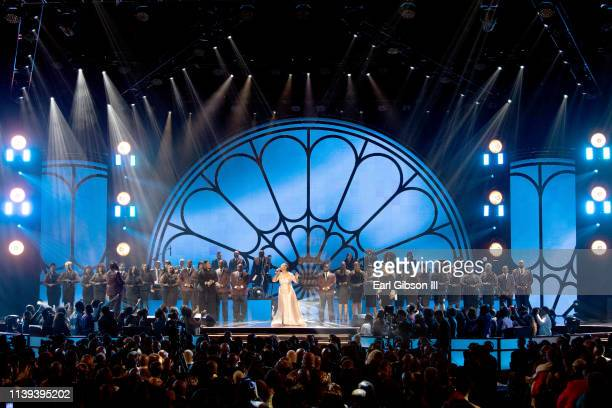 Regina Belle performs during the 34th annual Stellar Gospel Music Awards at the Orleans Arena on March 29 2019 in Las Vegas Nevada