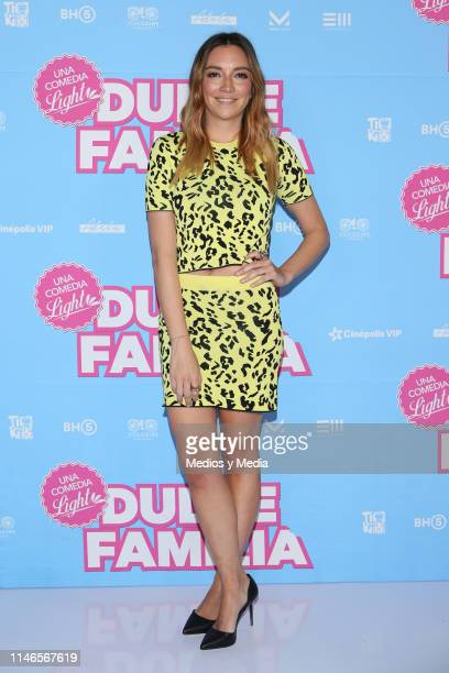 Regina Blandón poses for photos during a press conference to promote the film 'Dulce Familia' at Cinepolis Plaza Universidad on May 2 2019 in Mexico...
