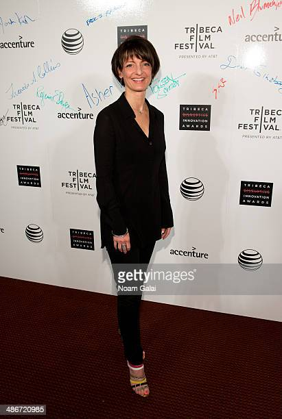Regina Dugan attends The Disruptive Innovation Awards during the 2014 Tribeca Film Festival at Jack H Skirball Center for the Performing Arts on...
