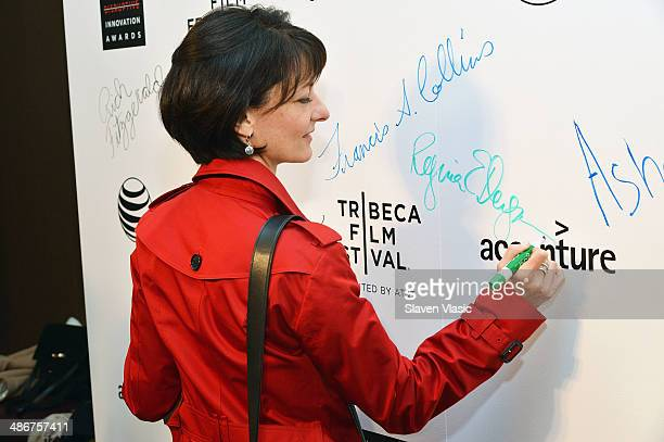 Regina Dugan attends The Disruptive Innovation Awards during the 2014 Tribeca Film Festivalat at NYU Skirball Center on April 25 2014 in New York City