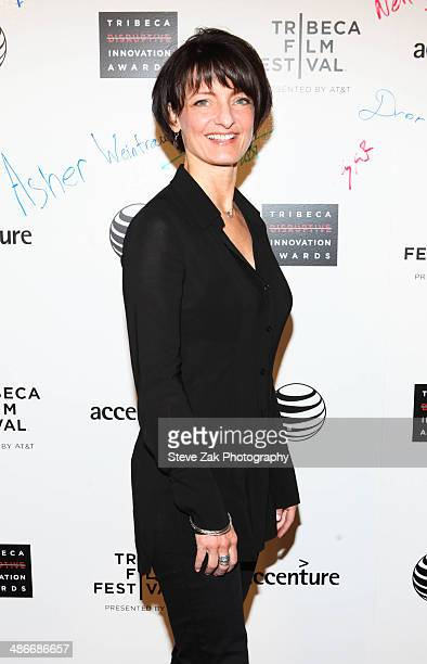 Regina Dugan attends the The Disruptive Innovation Awards during the 2014 Tribeca Film Festival>> at Jack H Skirball Center for the Performing Arts...