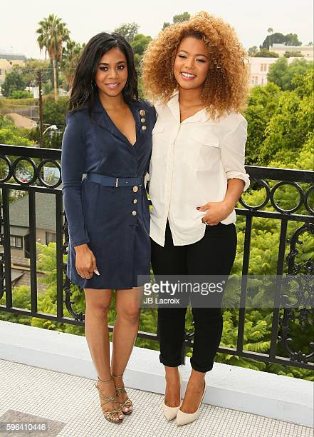 Regina Hall and Jaz Sinclair attend a photo call for 'When The Bough Breaks' on August 27 2016 in West Hollywood California