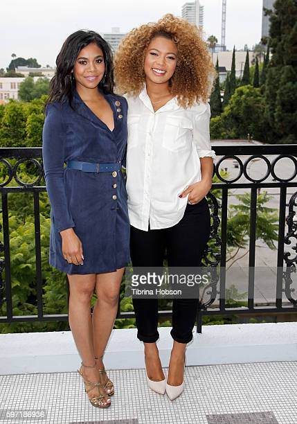 Regina Hall and Jaz Sinclair attend the photo call for 'When The Bough Breaks' at The London Hotel on August 27 2016 in West Hollywood California
