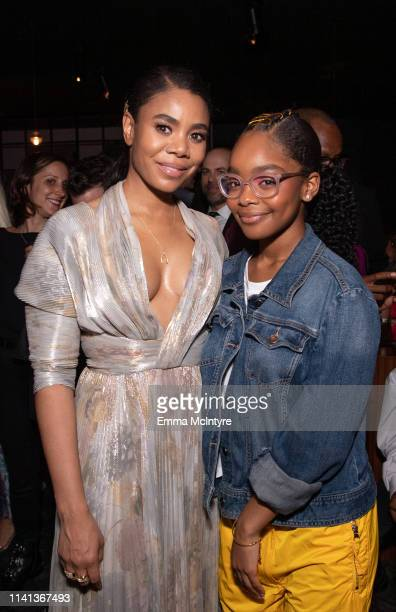 Regina Hall and Marsai Martin attend the after party for the premiere of Universal Pictures' Little on April 08 2019 in Los Angeles California