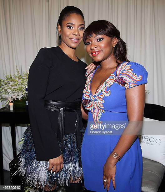 Regina Hall and Naturi Naughton attends the 2015 WEEN Awards at The Schomburg Center for Research in Black Culture on November 18 2015 in New York...