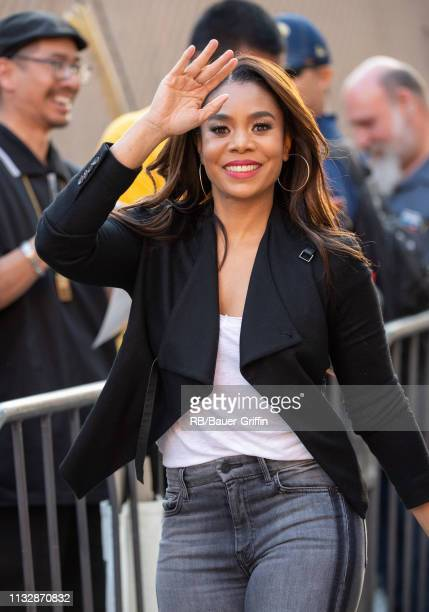 Regina Hall is seen at 'Jimmy Kimmel Live' on March 25 2019 in Los Angeles California