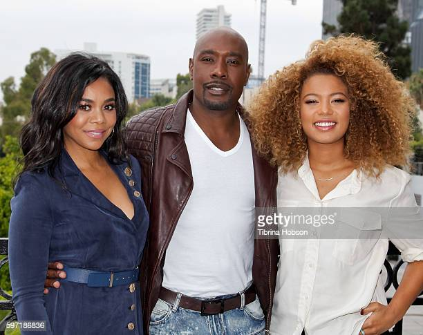 Regina Hall Jaz Sinclair and Morris Chestnut attend the photo call for 'When The Bough Breaks' at The London Hotel on August 27 2016 in West...
