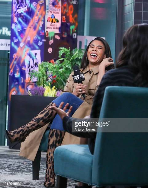 Regina Hall visits at Build Studio on March 12, 2020 in New York City.
