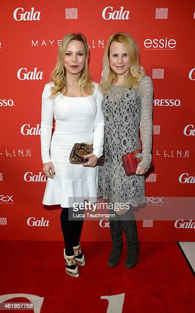 Regina Halmich and Sonja Kiefer attend the GALA Fashion Brunch at Ellington Hotel on January 22 2015 in Berlin Germany