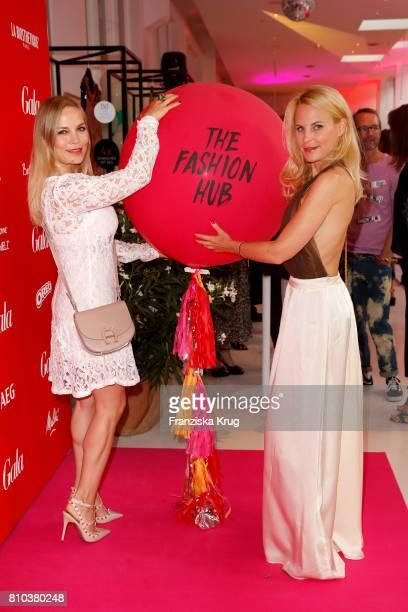 Regina Halmich and Sonja Kiefer attend the Gala Fashion Brunch during the MercedesBenz Fashion Week Berlin Spring/Summer 2018 at Ellington Hotel on...