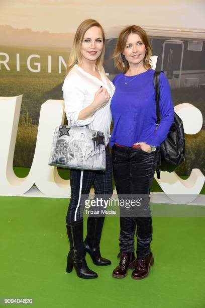 Regina Halmich and Tina Ruland attend the 'Pastewka' premiere at Kino International on January 23 2018 in Berlin Germany