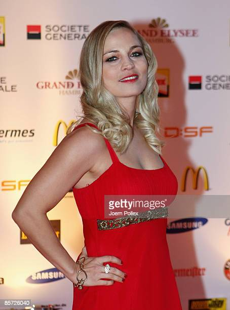 Regina Halmich arrives with for the Herbert Award 2009 Gala at the Elysee Hotel on March 30 2009 in Hamburg Germany