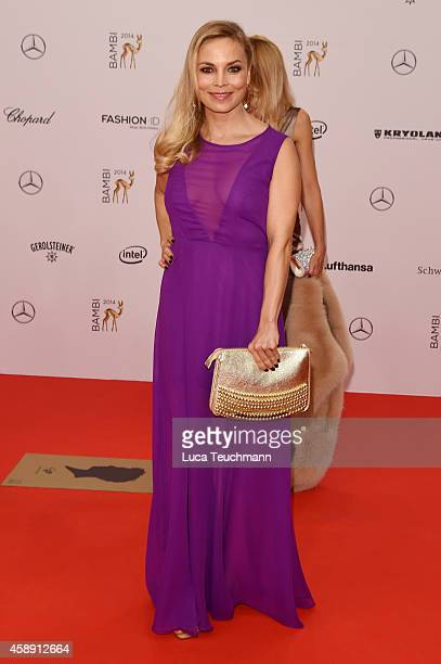 Regina Halmich attends Kryolan at the Bambi Awards 2014 on November 13 2014 in Berlin Germany