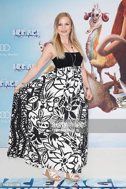 Regina Halmich attends the 'Ice Age Kollision Voraus' German Premiere at CineStar on June 26 2016 in Berlin Germany
