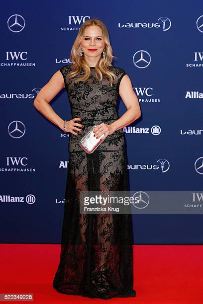 Regina Halmich attends the Laureus World Sports Awards 2016 at the Messe Berlin on April 18 2016 in Berlin Germany