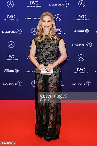 Regina Halmich attends the Laureus World Sports Awards 2016 on April 18 2016 in Berlin Germany