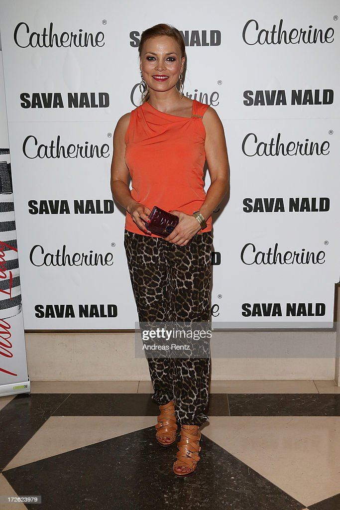 Regina Halmich attends the Sava Nald Show during the Mercedes-Benz Fashion Week Spring/Summer 2014 at Hotel Adlon on July 4, 2013 in Berlin, Germany.