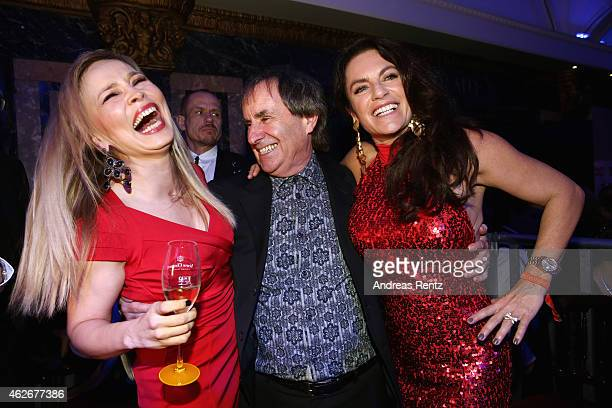 Regina Halmich, Chris de Burgh and Christine Neubauer attend the Lambertz Monday Night 2015 at Alter Wartesaal on February 2, 2015 in Cologne,...