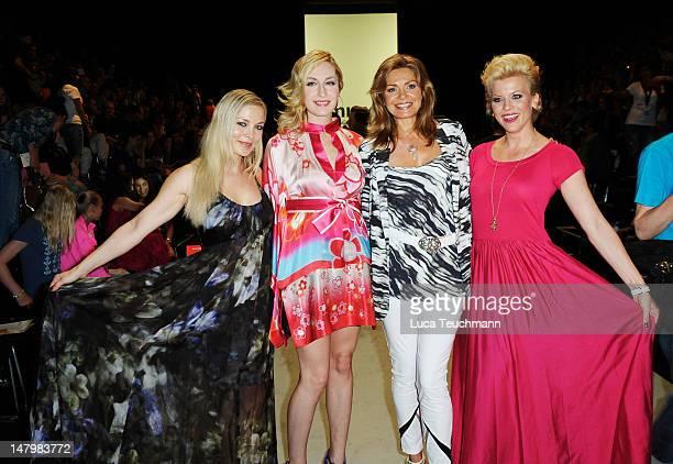 Regina Halmich ElnaMargret zu Bentheim Maren Gilzer and Eva Habermann arrive for the Minx By Eva Lux Show at MercedesBenz Fashion Week Spring/Summer...