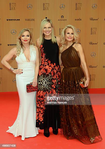 Regina Halmich Nina Ruge and Sonja Kiefer attend the Bambi Awards 2015 at Stage Theater on November 12 2015 in Berlin Germany