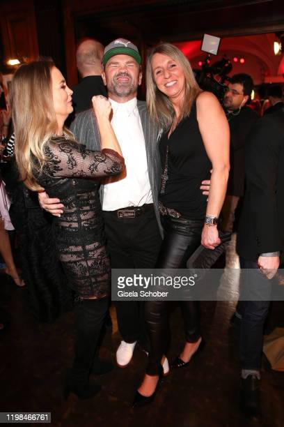 Regina Halmich Sven Ottke and his wife Monic Frank during the Lambertz Monday Night 2020 Wild Chocolate Party on February 3 2020 in Cologne Germany