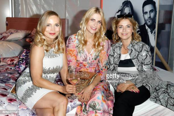 Regina Halmich Tanja Buelter and Tina Ruland attend the Guido Maria Kretschmer Fashion Show Autumn/Winter 2017 presented by OTTO at Tempodrom on July...