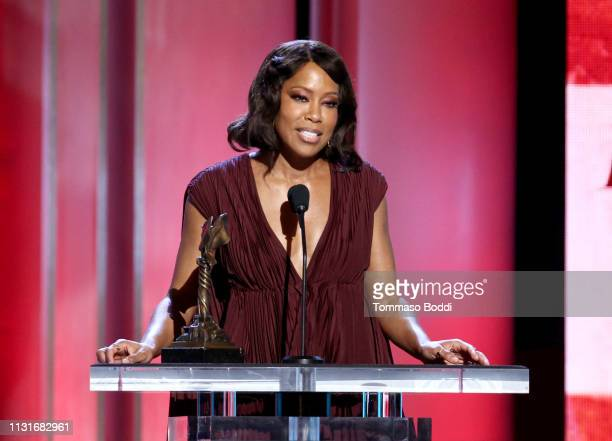 """Regina King accepts Best Supporting Female for """"If Beale Street Could Talk"""" onstage during the 2019 Film Independent Spirit Awards on February 23..."""