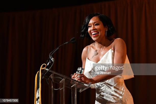 Regina King accepts the Best Supporting Actress award for If Beale Street Could Talk onstage during The National Board of Review Annual Awards Gala...