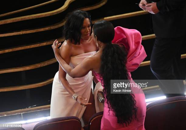 Regina King and Angela Bassett attend the 91st Annual Academy Awards at Dolby Theatre on February 24 2019 in Hollywood California