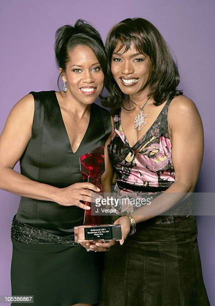 Regina King and Angela Bassett during Hollywood Life's 4th Annual Breakthrough of the Year Awards Portraits at Henry Fonda Theatre in Hollywood...