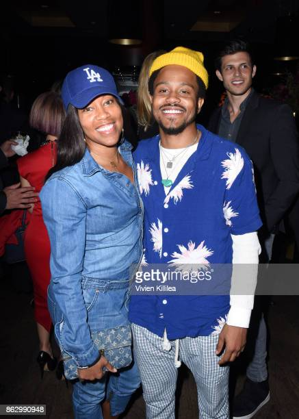 Regina King and DJ Buttercream attend Childhelp Hollywood Heroes on October 18 2017 in Beverly Hills California