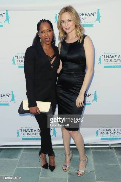 Regina King and Heather Graham attend I Have A Dream Foundation Los Angeles Hosts 6th Annual Dreamer Dinner Benefit at Skirball Cultural Center on...