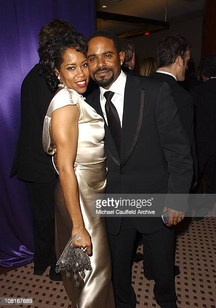 Regina King and husband Ian Alexander during 2005 InStyle/Warner Bros Golden Globes Party Inside at The Palm Court at the Beverly Hilton in Beverly...