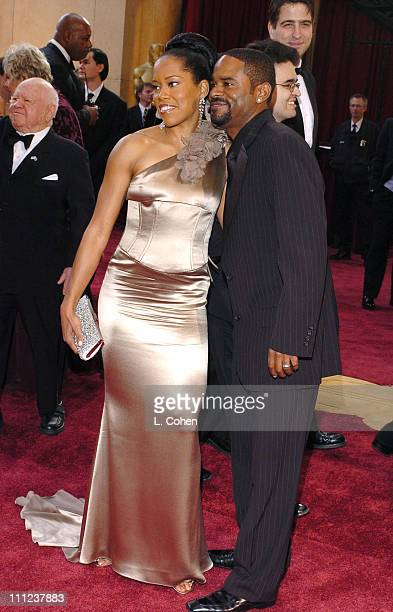 Regina King and husband Ian Alexander Sr during The 77th Annual Academy Awards Arrivals at Kodak Theatre in Hollywood California United States