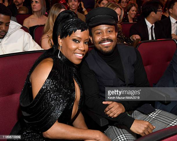 Regina King and Ian Alexander Sr. Attend the 2019 American Music Awards at Microsoft Theater on November 24, 2019 in Los Angeles, California.