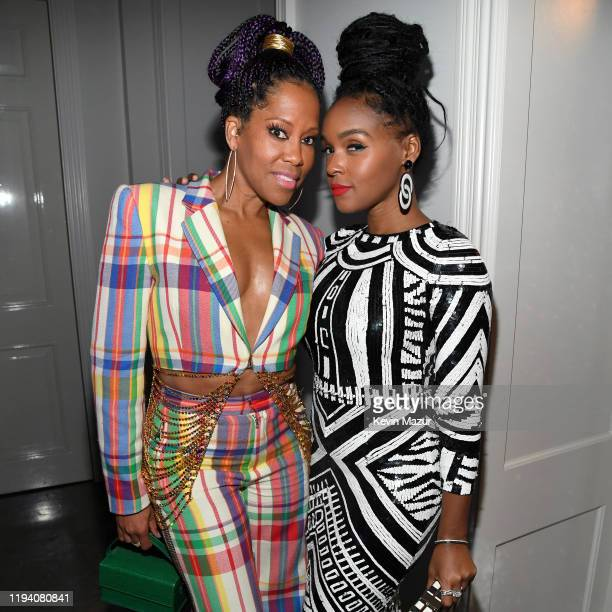 Regina King and Janelle Monáe attend Sean Combs 50th Birthday Bash presented by Ciroc Vodka on December 14 2019 in Los Angeles California